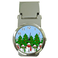 Kawaii Snowman Money Clip Watches by Valentinaart