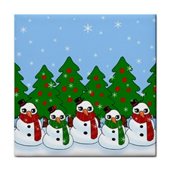 Kawaii Snowman Face Towel by Valentinaart