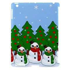 Kawaii Snowman Apple Ipad 3/4 Hardshell Case (compatible With Smart Cover) by Valentinaart