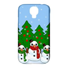 Kawaii Snowman Samsung Galaxy S4 Classic Hardshell Case (pc+silicone) by Valentinaart