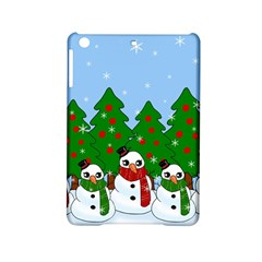 Kawaii Snowman Ipad Mini 2 Hardshell Cases by Valentinaart