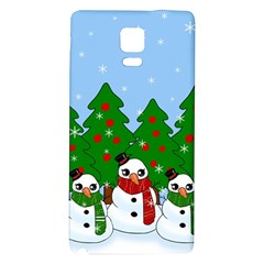 Kawaii Snowman Galaxy Note 4 Back Case by Valentinaart