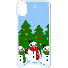 Kawaii Snowman Apple Iphone X Seamless Case (white) by Valentinaart