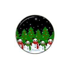 Kawaii Snowman Hat Clip Ball Marker by Valentinaart
