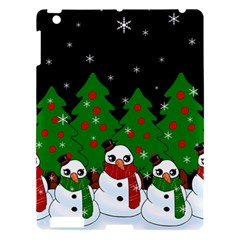 Kawaii Snowman Apple Ipad 3/4 Hardshell Case by Valentinaart