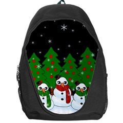 Kawaii Snowman Backpack Bag by Valentinaart
