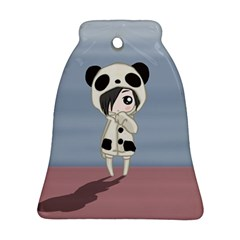 Kawaii Panda Girl Bell Ornament (two Sides) by Valentinaart