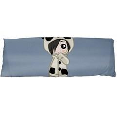 Kawaii Panda Girl Body Pillow Case Dakimakura (two Sides) by Valentinaart