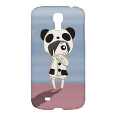 Kawaii Panda Girl Samsung Galaxy S4 I9500/i9505 Hardshell Case by Valentinaart