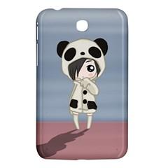 Kawaii Panda Girl Samsung Galaxy Tab 3 (7 ) P3200 Hardshell Case  by Valentinaart