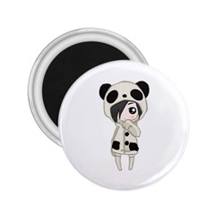 Kawaii Panda Girl 2 25  Magnets by Valentinaart