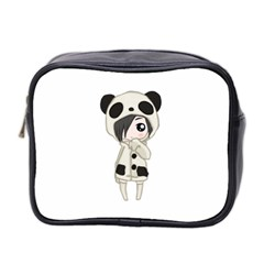 Kawaii Panda Girl Mini Toiletries Bag 2 Side by Valentinaart