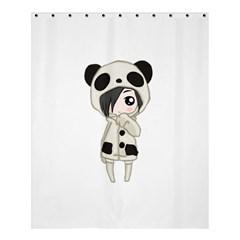 Kawaii Panda Girl Shower Curtain 60  X 72  (medium)  by Valentinaart