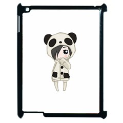Kawaii Panda Girl Apple Ipad 2 Case (black) by Valentinaart