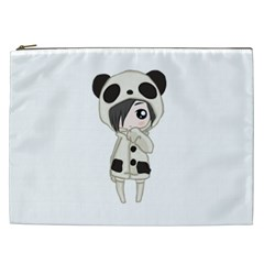 Kawaii Panda Girl Cosmetic Bag (xxl)  by Valentinaart