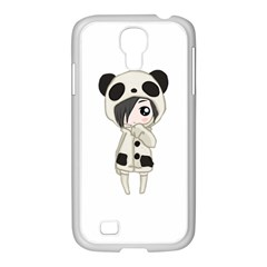 Kawaii Panda Girl Samsung Galaxy S4 I9500/ I9505 Case (white) by Valentinaart