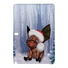 Christmas, Cute Little Piglet With Christmas Hat Samsung Galaxy Tab Pro 10 1 Hardshell Case by FantasyWorld7