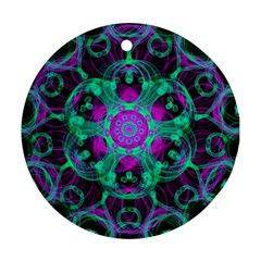 Pattern Round Ornament (two Sides) by gasi
