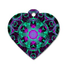 Pattern Dog Tag Heart (two Sides) by gasi