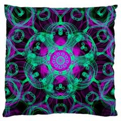 Pattern Large Cushion Case (two Sides) by gasi
