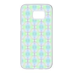 Pattern Samsung Galaxy S7 Edge White Seamless Case by gasi