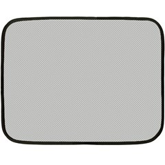 Grey And White Simulated Carbon Fiber Fleece Blanket (mini) by PodArtist