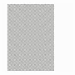 Grey And White Simulated Carbon Fiber Small Garden Flag (two Sides) by PodArtist
