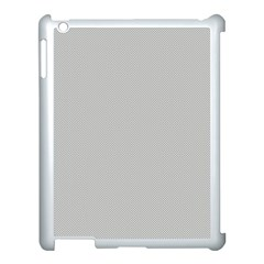 Grey And White Simulated Carbon Fiber Apple Ipad 3/4 Case (white) by PodArtist