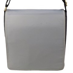 Grey And White Simulated Carbon Fiber Flap Messenger Bag (s) by PodArtist