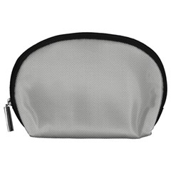 Grey And White Simulated Carbon Fiber Accessory Pouches (large)  by PodArtist
