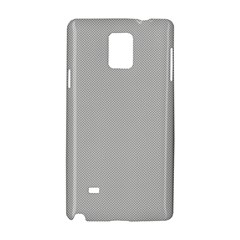 Grey And White Simulated Carbon Fiber Samsung Galaxy Note 4 Hardshell Case by PodArtist