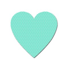 Tiffany Aqua Blue With White Lipstick Kisses Heart Magnet by PodArtist