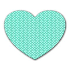 Tiffany Aqua Blue With White Lipstick Kisses Heart Mousepads by PodArtist