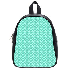 Tiffany Aqua Blue With White Lipstick Kisses School Bag (small) by PodArtist
