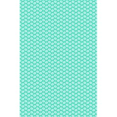 Tiffany Aqua Blue With White Lipstick Kisses 5 5  X 8 5  Notebooks by PodArtist