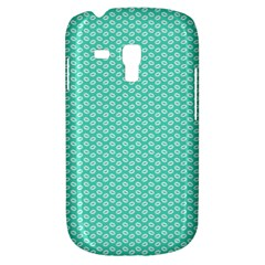 Tiffany Aqua Blue With White Lipstick Kisses Galaxy S3 Mini by PodArtist