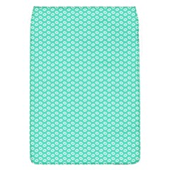 Tiffany Aqua Blue With White Lipstick Kisses Flap Covers (l)  by PodArtist