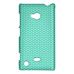 Tiffany Aqua Blue With White Lipstick Kisses Nokia Lumia 720 by PodArtist