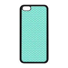 Tiffany Aqua Blue With White Lipstick Kisses Apple Iphone 5c Seamless Case (black) by PodArtist