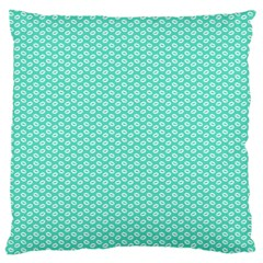 Tiffany Aqua Blue With White Lipstick Kisses Standard Flano Cushion Case (one Side) by PodArtist