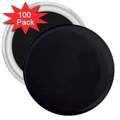 Simulated Black Carbon Fiber Steel 3  Magnets (100 Pack) by PodArtist
