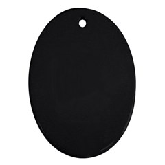 Simulated Black Carbon Fiber Steel Oval Ornament (two Sides) by PodArtist
