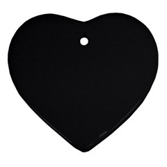 Simulated Black Carbon Fiber Steel Heart Ornament (two Sides) by PodArtist
