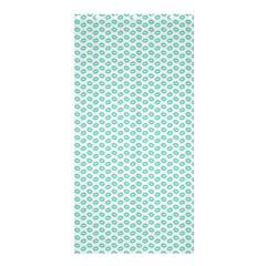 Tiffany Aqua Blue Lipstick Kisses On White Shower Curtain 36  X 72  (stall)  by PodArtist