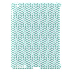 Tiffany Aqua Blue Lipstick Kisses On White Apple Ipad 3/4 Hardshell Case (compatible With Smart Cover) by PodArtist