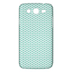 Tiffany Aqua Blue Lipstick Kisses On White Samsung Galaxy Mega 5 8 I9152 Hardshell Case  by PodArtist