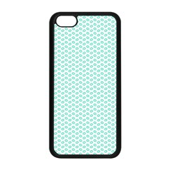 Tiffany Aqua Blue Lipstick Kisses On White Apple Iphone 5c Seamless Case (black) by PodArtist