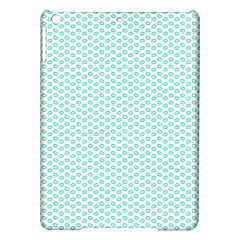 Tiffany Aqua Blue Lipstick Kisses On White Ipad Air Hardshell Cases by PodArtist