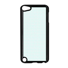 Tiffany Aqua Blue Candy Polkadot Hearts On White Apple Ipod Touch 5 Case (black) by PodArtist