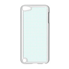 Tiffany Aqua Blue Candy Polkadot Hearts On White Apple Ipod Touch 5 Case (white) by PodArtist